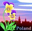 国家与鲜花0040,国家与鲜花,分层花纹,Poland 首都 城市