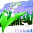 国家与鲜花0042,国家与鲜花,分层花纹,Finland 冬天 雪景