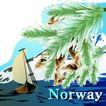 国家与鲜花0044,国家与鲜花,分层花纹,Norway 帆船 海