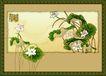 国画风景0003,国画风景,分层花纹,荷 莲花 植物 睡莲 芙蓉