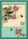 国画风景0004,国画风景,分层花纹,牡丹 洛阳 菏泽牡丹 牡丹亭 国花