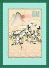 国画风景0006,国画风景,分层花纹,桃 水果 桃园 寿桃 仙桃