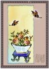 国画风景0007,国画风景,分层花纹,蝶 花盘 盆景 观赏 室内盆景