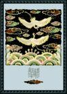 国画风景0013,国画风景,分层花纹,海浪 大鸟 飞翔