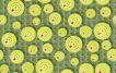 图形花纹背景0062,图形花纹背景,分层花纹,黄绿 圆环 红点