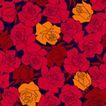 小花纹系列0033,小花纹系列,分层花纹,绘作 花朵 橘黄