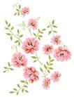 小花纹系列0038,小花纹系列,分层花纹,花枝 招展 摇晃
