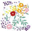 小花纹系列0042,小花纹系列,分层花纹,摘落 碎花 遍地