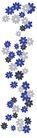 小花纹系列0051,小花纹系列,分层花纹,长形 散落 浅花