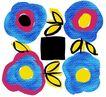 小花纹系列0052,小花纹系列,分层花纹,儿童 画作 花草