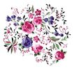 小花纹系列0055,小花纹系列,分层花纹,花色 含苞 蔓布