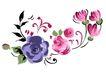 小花纹系列0057,小花纹系列,分层花纹,一枝 独秀 翘首