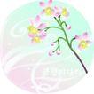 矢量花卉0031,矢量花卉,分层花纹,圆形 镜头 小紫花