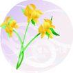 矢量花卉0033,矢量花卉,分层花纹,绿枝 开放 花朵