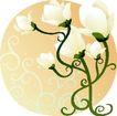 矢量花卉0053,矢量花卉,分层花纹,灯盏 形状 硕花