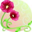 矢量花卉0079,矢量花卉,分层花纹,