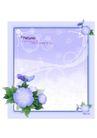 花边框0102,花边框,分层花纹,淡紫 花冠 左下角