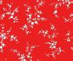 视觉花纹设计0089,视觉花纹设计,分层花纹,红底 白花 衬托
