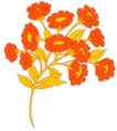 视觉花纹设计0090,视觉花纹设计,分层花纹,橙黄 花簇 细叶