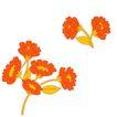 视觉花纹设计0092,视觉花纹设计,分层花纹,枝头 花团 艳丽