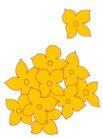 视觉花纹设计0093,视觉花纹设计,分层花纹,黄花 簇拥 挤促