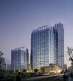 上海淮海国际广场0010,上海淮海国际广场,国内建筑设计案例,街道 夜幕 楼盘