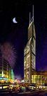 世茂大厦0001,世茂大厦,国内建筑设计案例,弯月 晚上 夜上海
