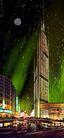 世茂大厦0002,世茂大厦,国内建筑设计案例,圆月 夜空 彩灯