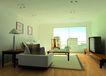 中式两居室0002,中式两居室,国内建筑设计案例,客厅 电视 沙发