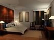 中式两居室0003,中式两居室,国内建筑设计案例,客房 主卧室 床铺