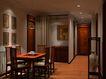 中式两居室0004,中式两居室,国内建筑设计案例,四方桌 出口 门