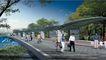 公园广场景观0020,公园广场景观,国内建筑设计案例,家人 人行道 步行