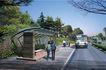 公园广场景观0022,公园广场景观,国内建筑设计案例,车子 候车 朋友