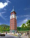 内江钟鼓楼花园0002,内江钟鼓楼花园,国内建筑设计案例,十字架 尖顶 钟楼