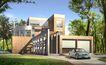 别墅模型0017,别墅模型,国内建筑设计案例,车子 晴天 绿树