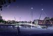 力方效果图0022,力方效果图,国内建筑设计案例,桥 道路 夜晚