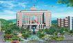 办公商业景观0005,办公商业景观,国内建筑设计案例,国旗 喷泉 蓝天