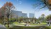 办公商业景观0009,办公商业景观,国内建筑设计案例,飞鸟 树木 公园