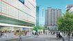 办公商业景观0019,办公商业景观,国内建筑设计案例,氢气球 马路 市民