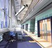 办公室0009,办公室,国内建筑设计案例,隔板 日光灯 地板