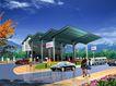 加油站0001,加油站,国内建筑设计案例,白天 蓝天 现代都市