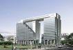 北京院透视图0001,北京院透视图,国内建筑设计案例,大厦 行人 路灯