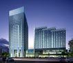 华汇大酒店夜景0002,华汇大酒店夜景,国内建筑设计案例,夜景 灯光 马路