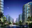 南京中海地产河西项目0009,南京中海地产河西项目,国内建筑设计案例,晚上 月亮 项目