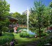 博雅新城0010,博雅新城,国内建筑设计案例,喷泉 草地 玩耍