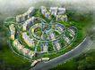 广安生态小区鸟瞰0002,广安生态小区鸟瞰,国内建筑设计案例,
