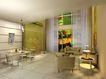 装饰室内0009,装饰室内,国内建筑设计案例,方桌 碟子 窗帘