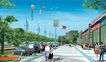 道路化-景观0009,道路化-景观,国内建筑设计案例,天空 人行道 车子