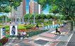 道路化-景观0017,道路化-景观,国内建筑设计案例,户外广告 坐椅子上 散步