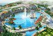 阳光海韵广场0001,阳光海韵广场,国内建筑设计案例,阳光海韵广场 喷泉 桥面